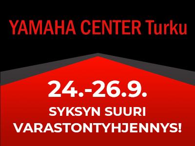 Syksyn suuri varastontyhjennys Yamaha Center Turussa