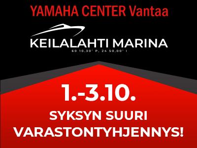 Syksyn suuri varastontyhjennys Yamaha Center Vantaa & Keilalahti