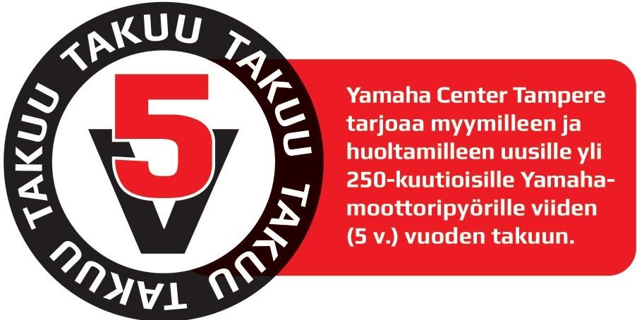5 vuoden takuu Yamaha-moottoripyöriin Tampereelta!