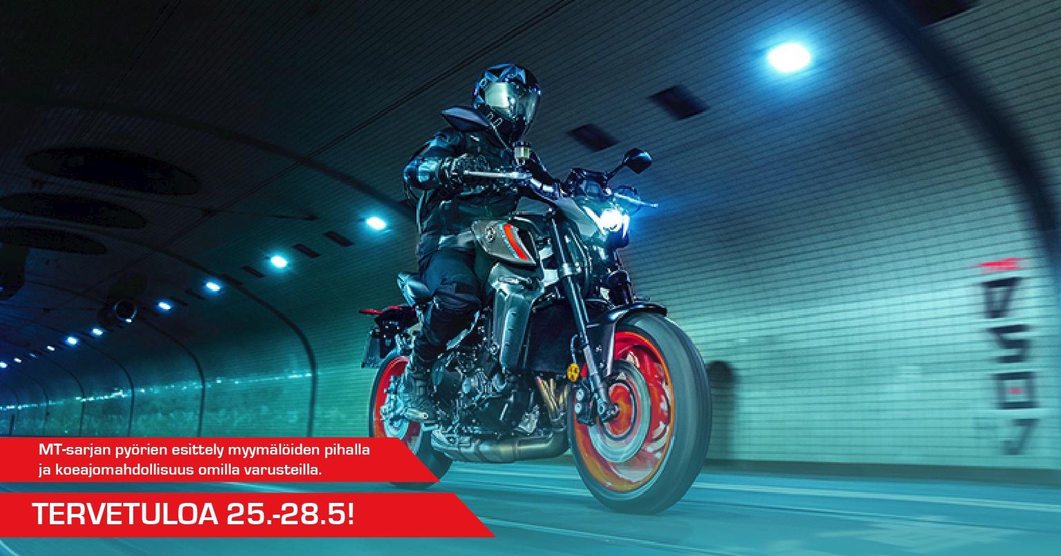 Tervetuloa koeajamaan Yamahan MT-sarjan moottoripyöriä 25.-28.5.!